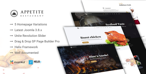 Image of Appetite - Restaurant / Food Service Joomla Template