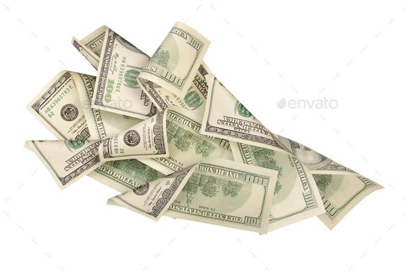 Fan of dollar bills - Stock Photo - Images