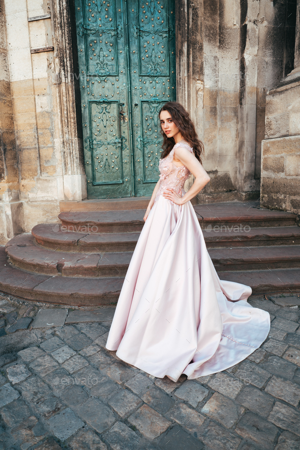 woman in a stylish evening dress - Stock Photo - Images