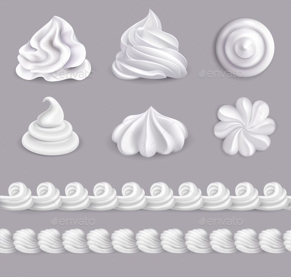 Whipped Cream Set - Food Objects