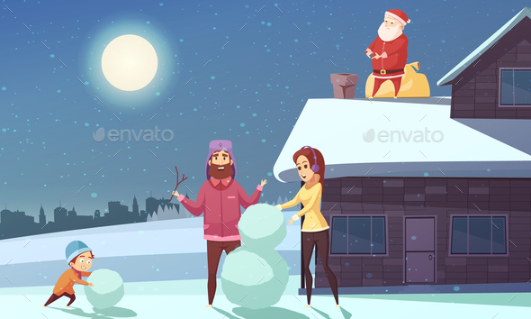 GraphicRiver Christmas Cartoon Illustration 21084985