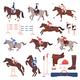 Equestrian Sport Icons Set