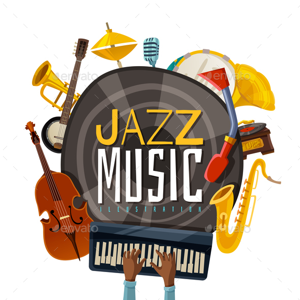 GraphicRiver Jazz Music Illustration 21084987
