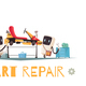 Kart Repair Illustration