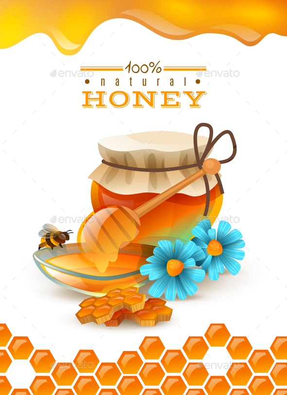 Natural Honey Poster - Animals Characters