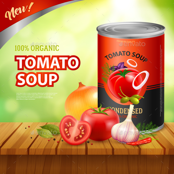 GraphicRiver Tomato Soup Packshot Background 21084999
