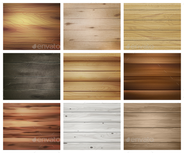 Wooden Texture Pattern Set - Miscellaneous Vectors