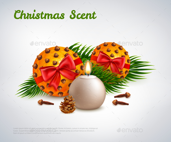 GraphicRiver Christmas Scent Design Concept 21085001