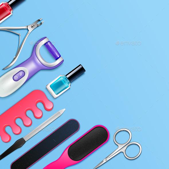 Pedicure Tools Frame - Health/Medicine Conceptual