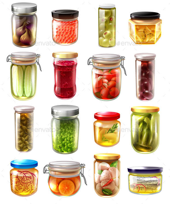 Canned Food Set - Food Objects