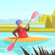 Water Sports Illustration