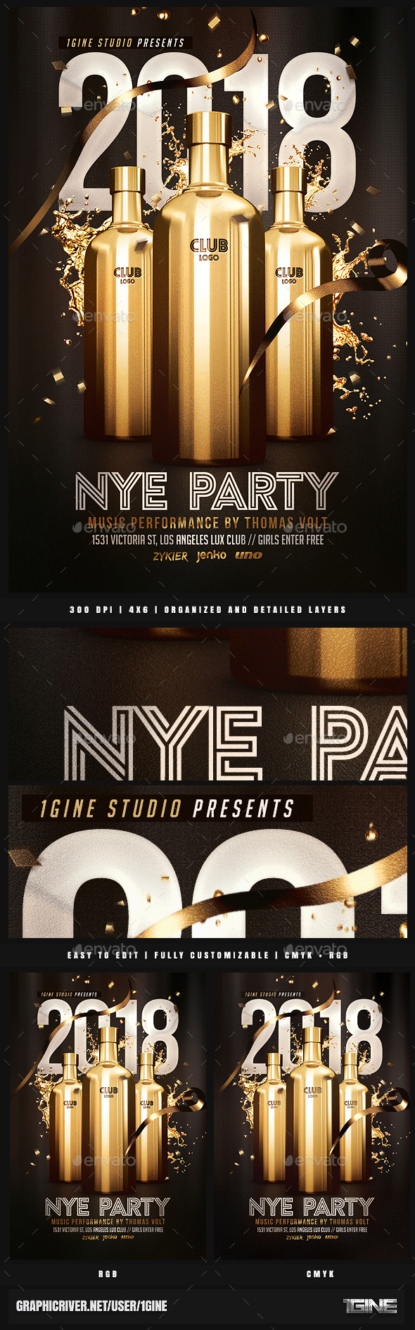 GraphicRiver NYE Party Flyer Template 21054856