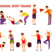 Personal Sport Trainer Orthogonal Icons