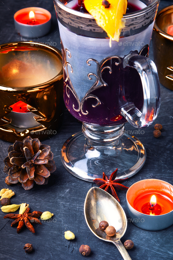 Winter mulled wine - Stock Photo - Images