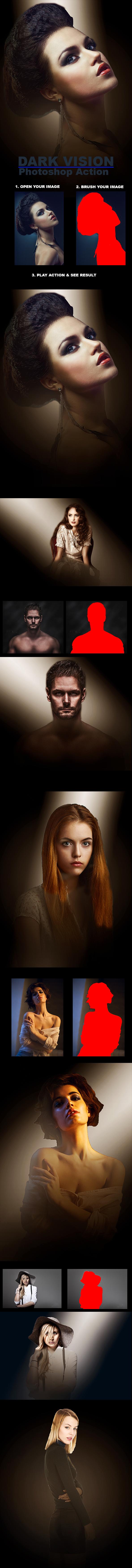 GraphicRiver Dark Vision Photoshop Action 21085148