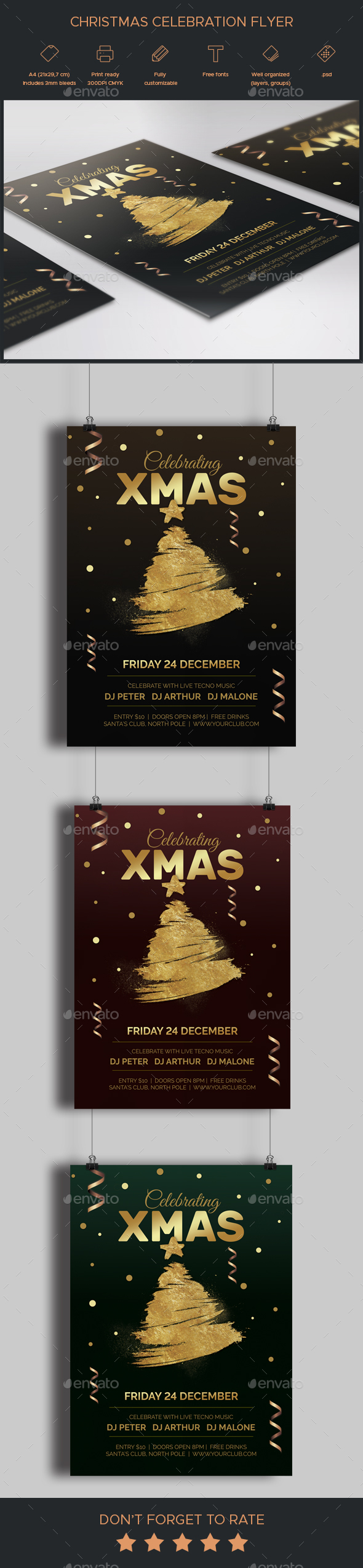 Christmas Celebration Flyer - Holidays Events