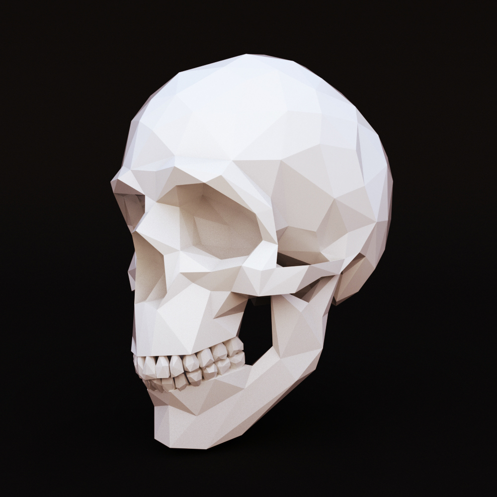 Low Poly Skull Human By Dosha969 3docean