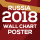 2018 Soccer / Football World Cup Wall Chart Poster - GraphicRiver Item for Sale