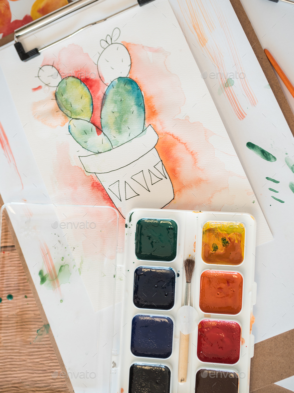 Watercolor Painting - Stock Photo - Images