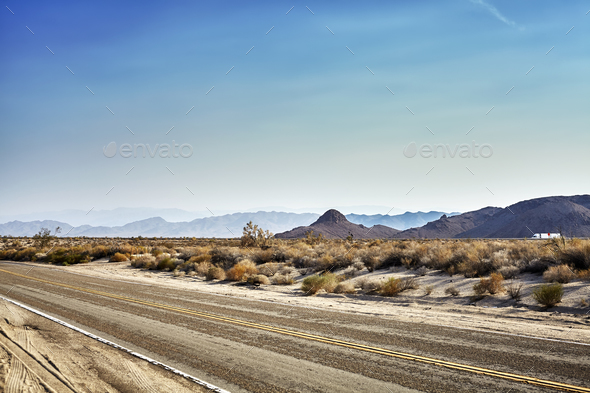 Desert highway, travel concept, USA. - Stock Photo - Images