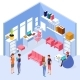 Isometric Home Office Interior