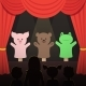 Childrens Puppet Theater Performance with Animals