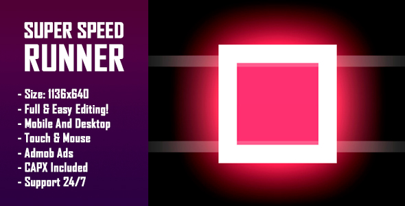 Super Speed Runner - HTML5 Game + Mobile Version! (Construct-2 CAPX) - CodeCanyon Item for Sale