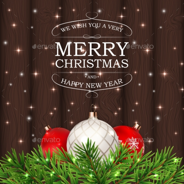 GraphicRiver Merry Christmas and New Year Background 21085792