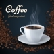 Aroma of Coffee Beans and Cup of Hot Coffee - GraphicRiver Item for Sale