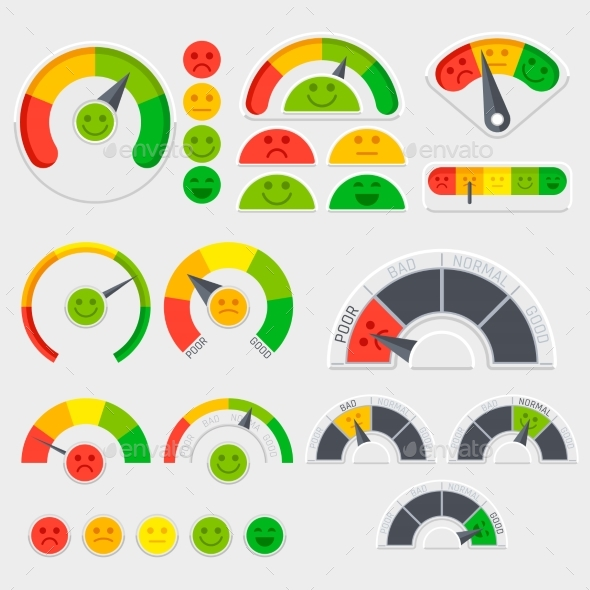 Customer Satisfaction Vector Indicator - Miscellaneous Vectors