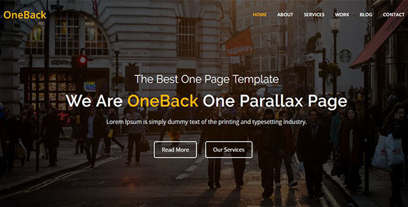 Download Oneback - One Page Parallax