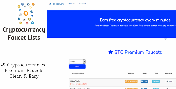 Download Cryptocurrency Faucet Lists