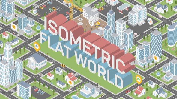 VideoHive Isometric Flat World City Map Builder 21085909