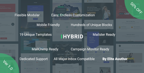 ThemeForest Hybrid Complete Email Marketing Template & Builder Access 21085931