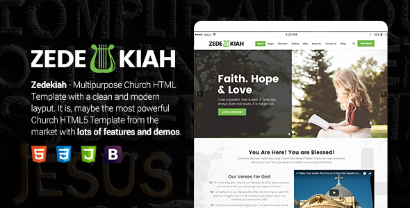 Zedekiah - MultiPurpose Church & Religion HTML Template - Churches Nonprofit