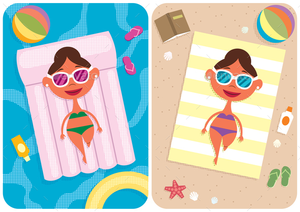 GraphicRiver Summer Vacation Girl 21086080
