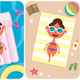 Summer Vacation Girl - GraphicRiver Item for Sale