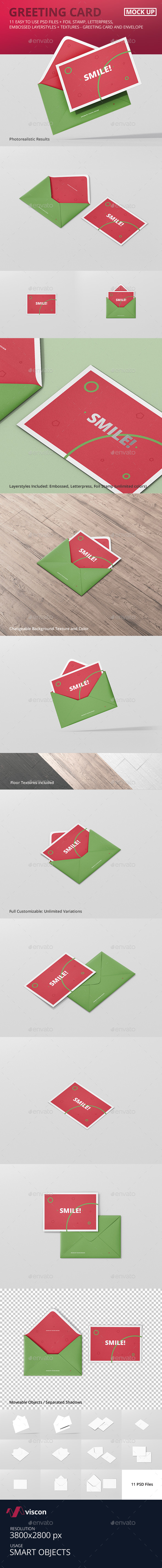 GraphicRiver Greeting Card Mockup with Envelope 21086283