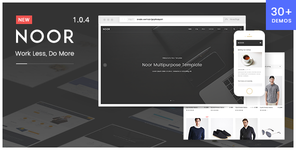 Noor   Creative Multipurpose & Fully Customizable WordPress Theme
