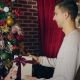 Man Gives Christmas Gift - VideoHive Item for Sale