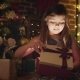 Little Girl Surprised By a Christmas Gift - VideoHive Item for Sale