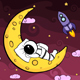 Cartoon Astronaut on the Moon - VideoHive Item for Sale