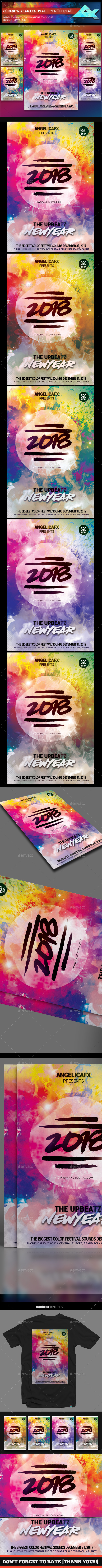 GraphicRiver 2018 New Year Music Festival Flyer Template 21086350