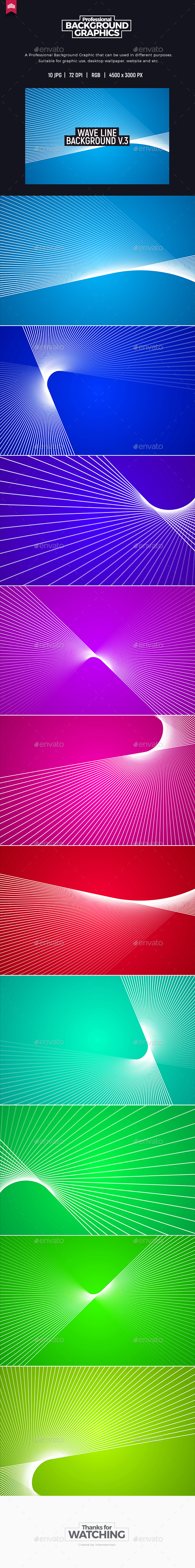 Wave Line Background V.3 - Abstract Backgrounds