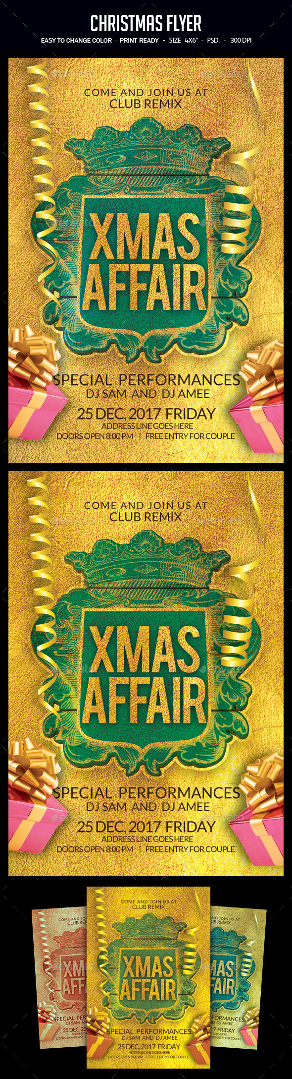 GraphicRiver Christmas Flyer 21025583