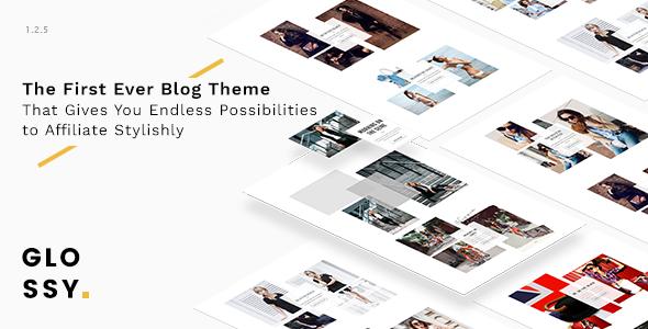 Glossy - Fashion Blog Theme for Stylish Affiliation