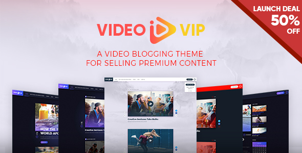 ThemeForest VideoVip Premium Video Content WordPress Theme 21061512