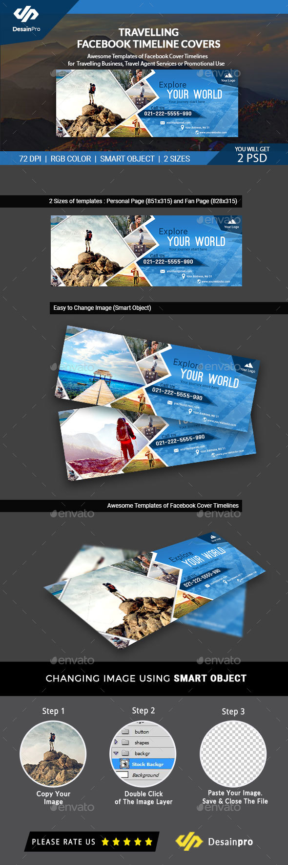 GraphicRiver Travelling Facebook Timeline Covers AR 21086519