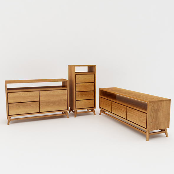 3DOcean Bedroom Storage Set 21086528
