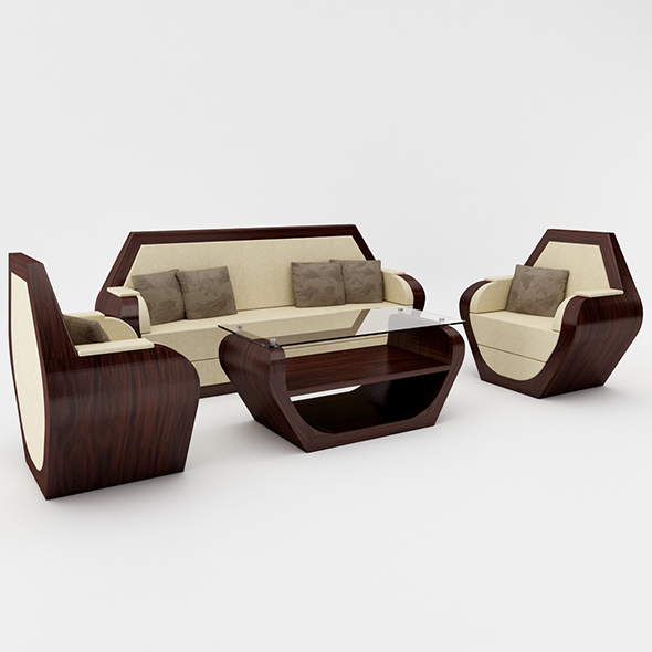 3DOcean Hexagon Sofa Set 21086552
